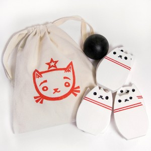 Bowling Kitty Set White