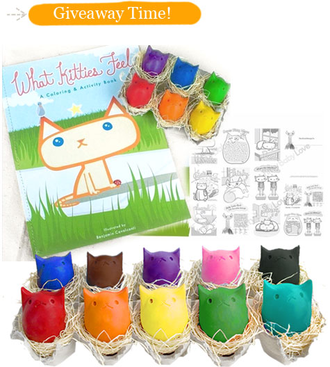 Soy & Beeswax Kitty Egg Crayon Giveaway