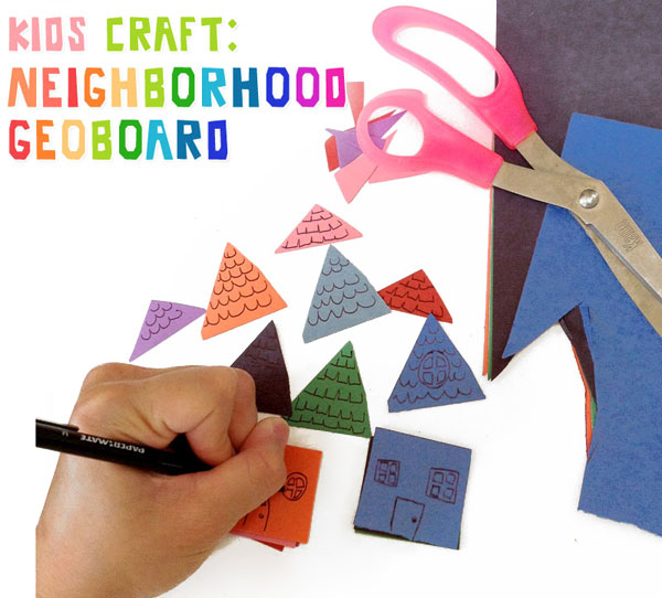 Kids Craft Tutorial- Neighborhood Geoboard