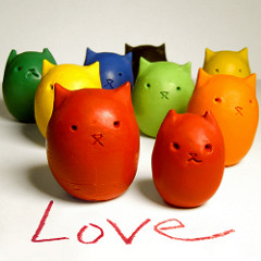 Kitty Egg Crayons & Tutorial