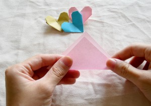 Origami Heart Tutorial 01