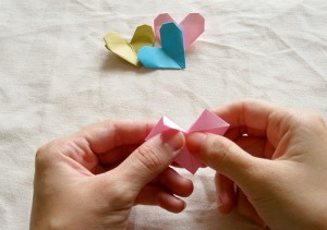 Origami Heart Tutorial 09