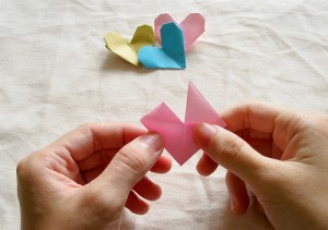 Origami Heart Tutorial 14