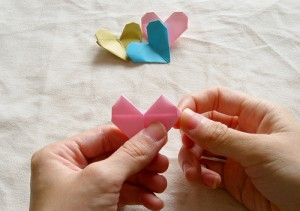 Origami Heart Tutorial 16