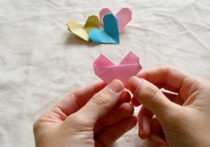 Origami Heart Tutorial 17