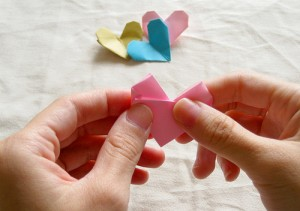 Origami Heart Tutorial 19