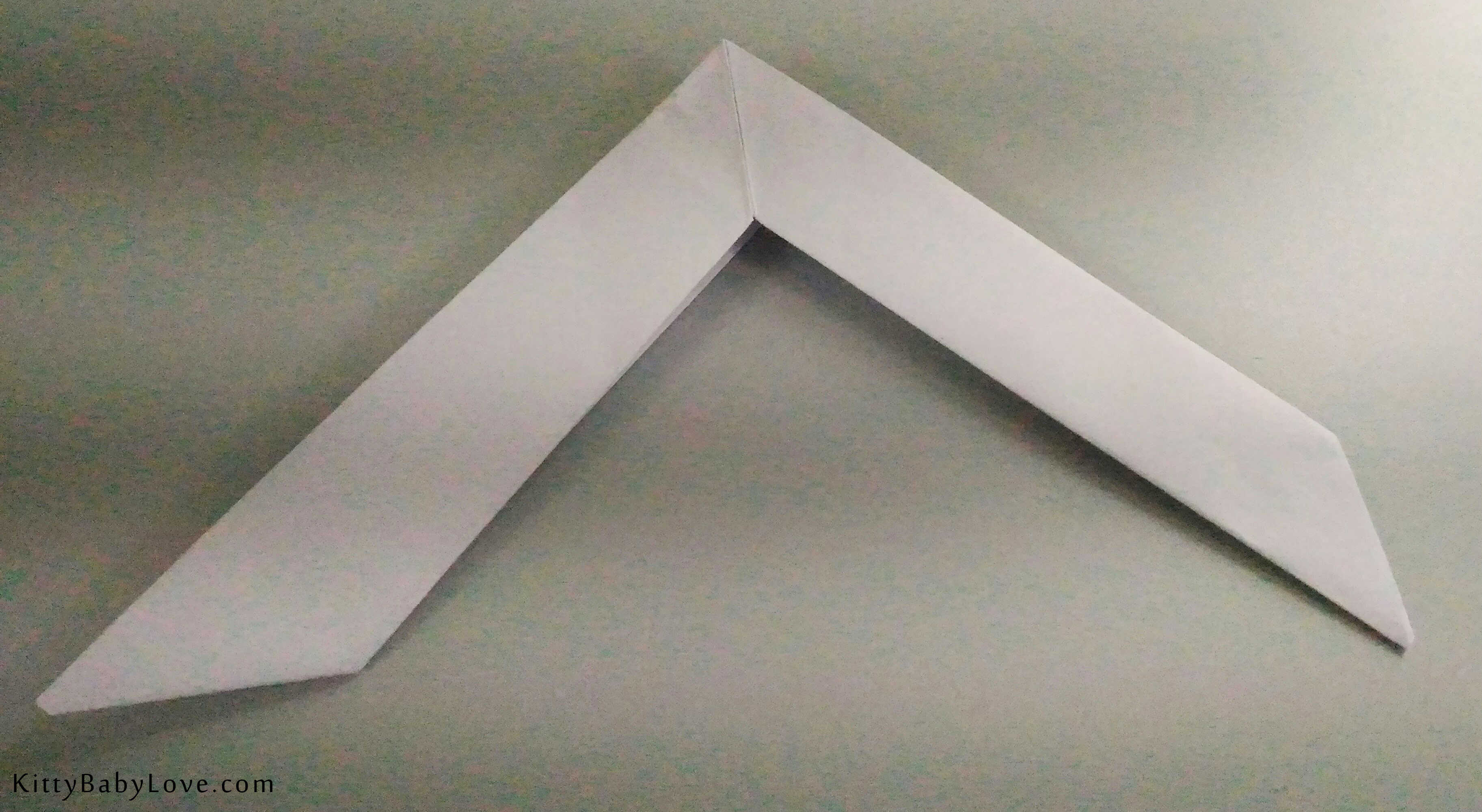 how to make a paper boomerang an origami boomerang easy
