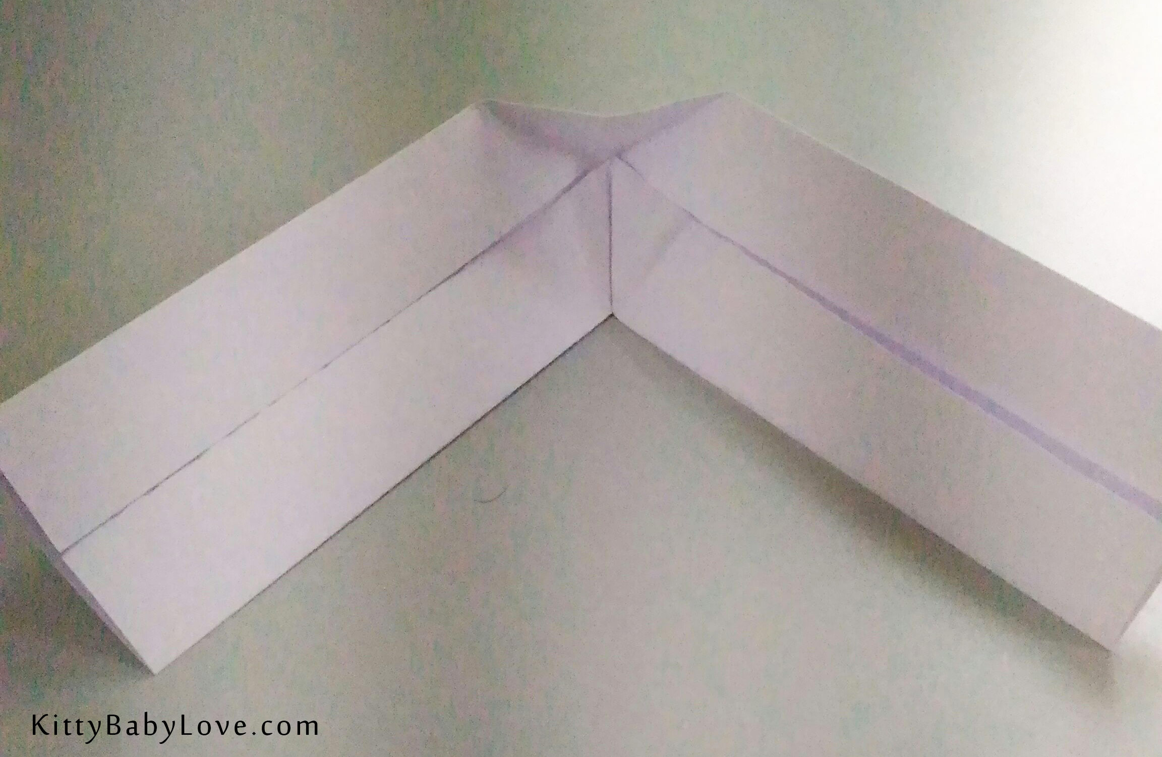 origami tutorial how to make a paper boomerang kitty