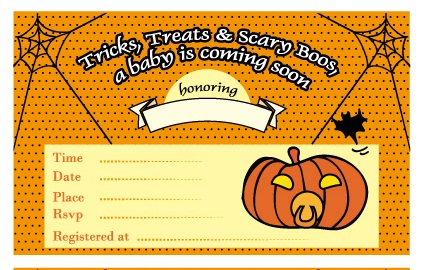 free printable halloween baby shower invitations