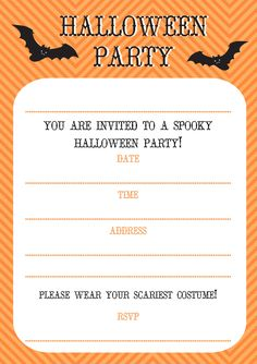 Free Printable Halloween Costume Party Invitations