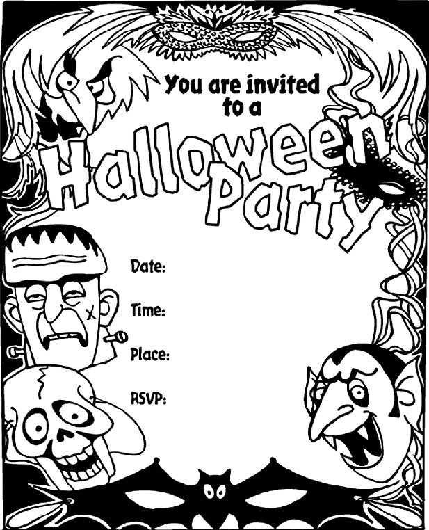 image relating to Halloween Invites Printable named 16 Wonderful Printable Halloween Occasion Invites