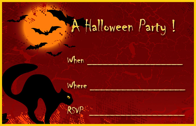16 awesome printable halloween party invitations kitty baby love for Free halloween invites templates