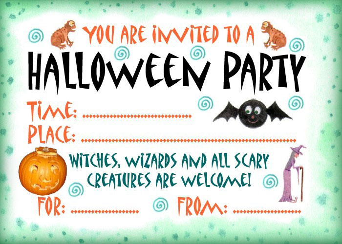 picture relating to Printable Halloween Party Invitations named 16 Wonderful Printable Halloween Occasion Invites