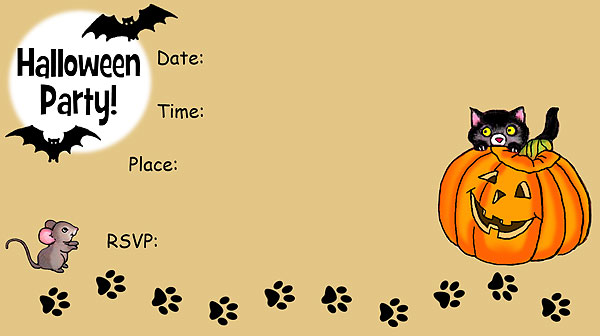 16 Awesome Printable Halloween Party Invitations | Kitty Baby Love