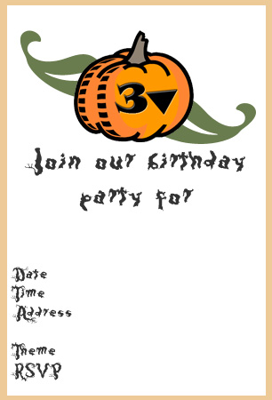 Awesome Printable Halloween Party Invitations Kitty Baby Love - Halloween birthday invitations party