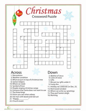 This is a graphic of Juicy Christmas Crossword Puzzles Printable