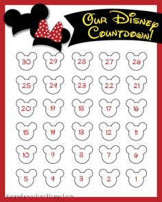photo regarding Disney Countdown Calendar Printable referred to as 10 Entertaining Printable Disney Countdown Calendars