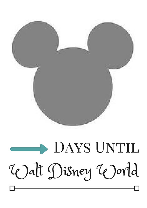 10 Fun Printable Disney Countdown Calendars | Kitty Baby Love