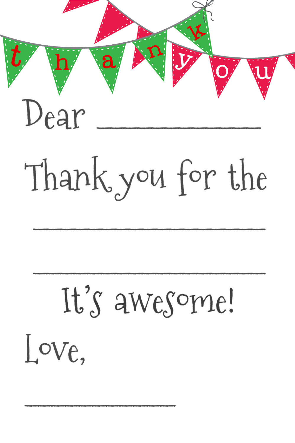 Wonderful Free Printable Thank You Cards  Free Printable Religious Thank You Cards