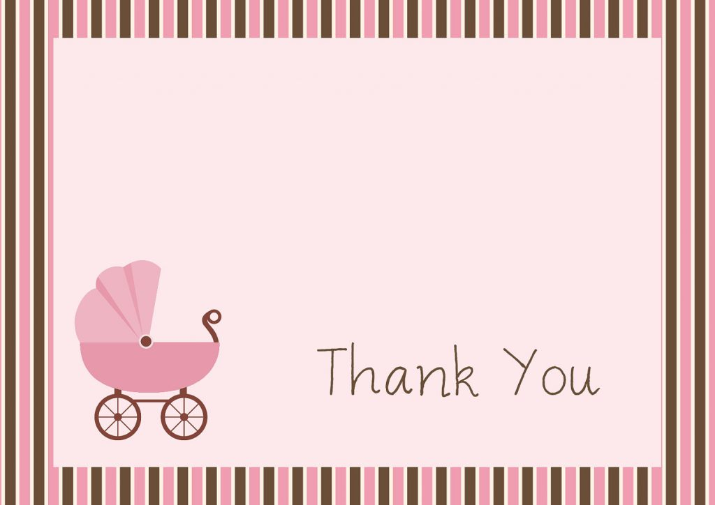 free printable baby shower thank you cards kitty baby love