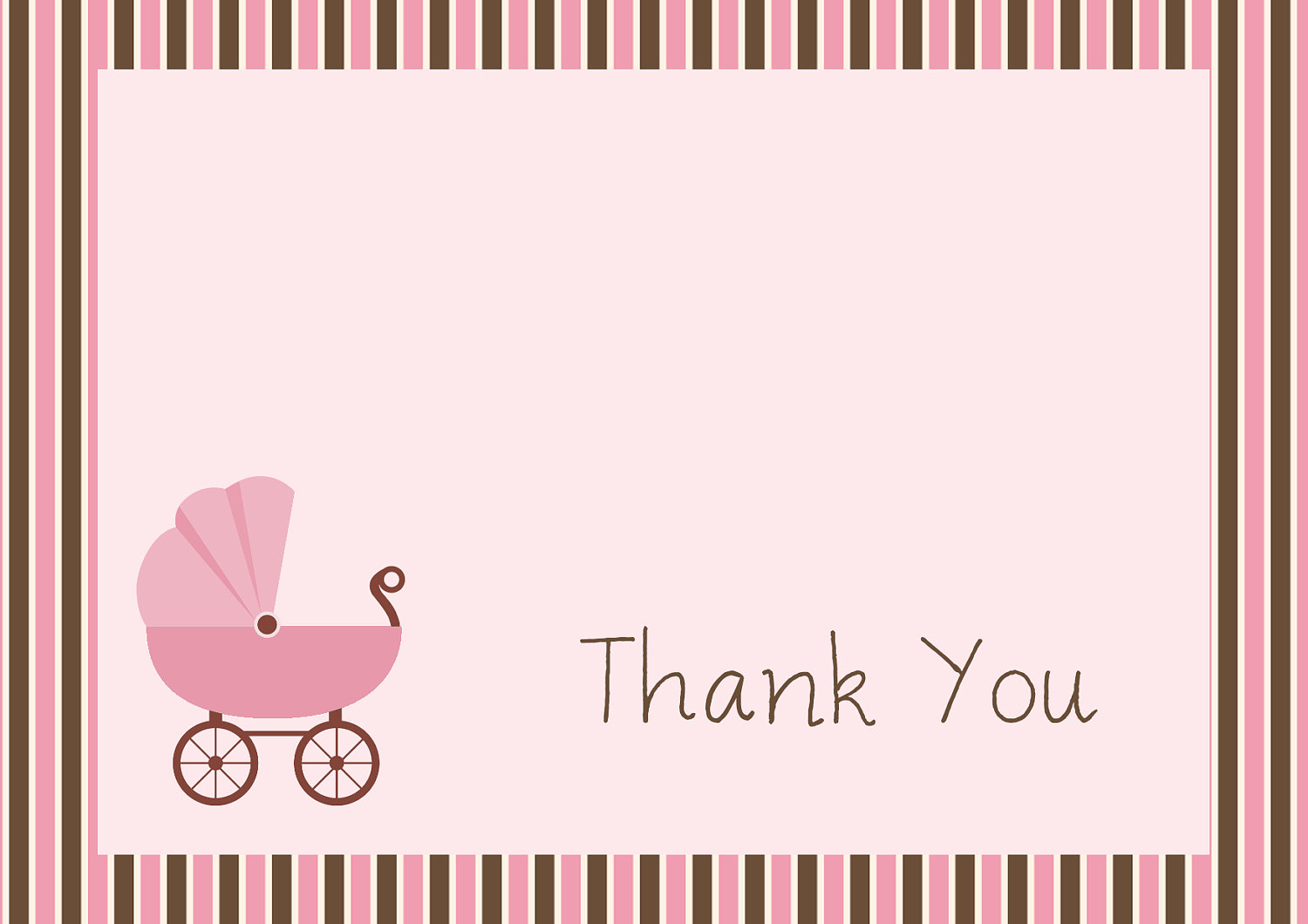 Free Printable Baby Shower Thank You Cards  Free Printable Religious Thank You Cards