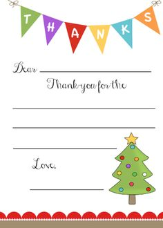 image relating to Christmas Thank You Cards Printable Free called 34 Printable Thank On your own Playing cards for All Functions