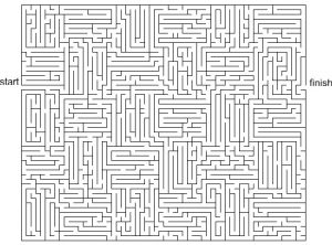 Epic image with printable mazes for adults