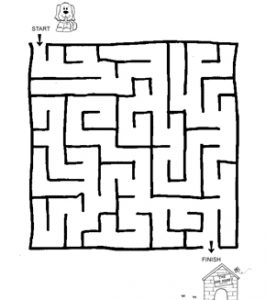 It is a photo of Universal Maze for Kindergarten Printable Free