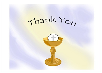 Awesome Free Printable Religious Thank You Cards Regard To Free Printable Religious Thank You Cards