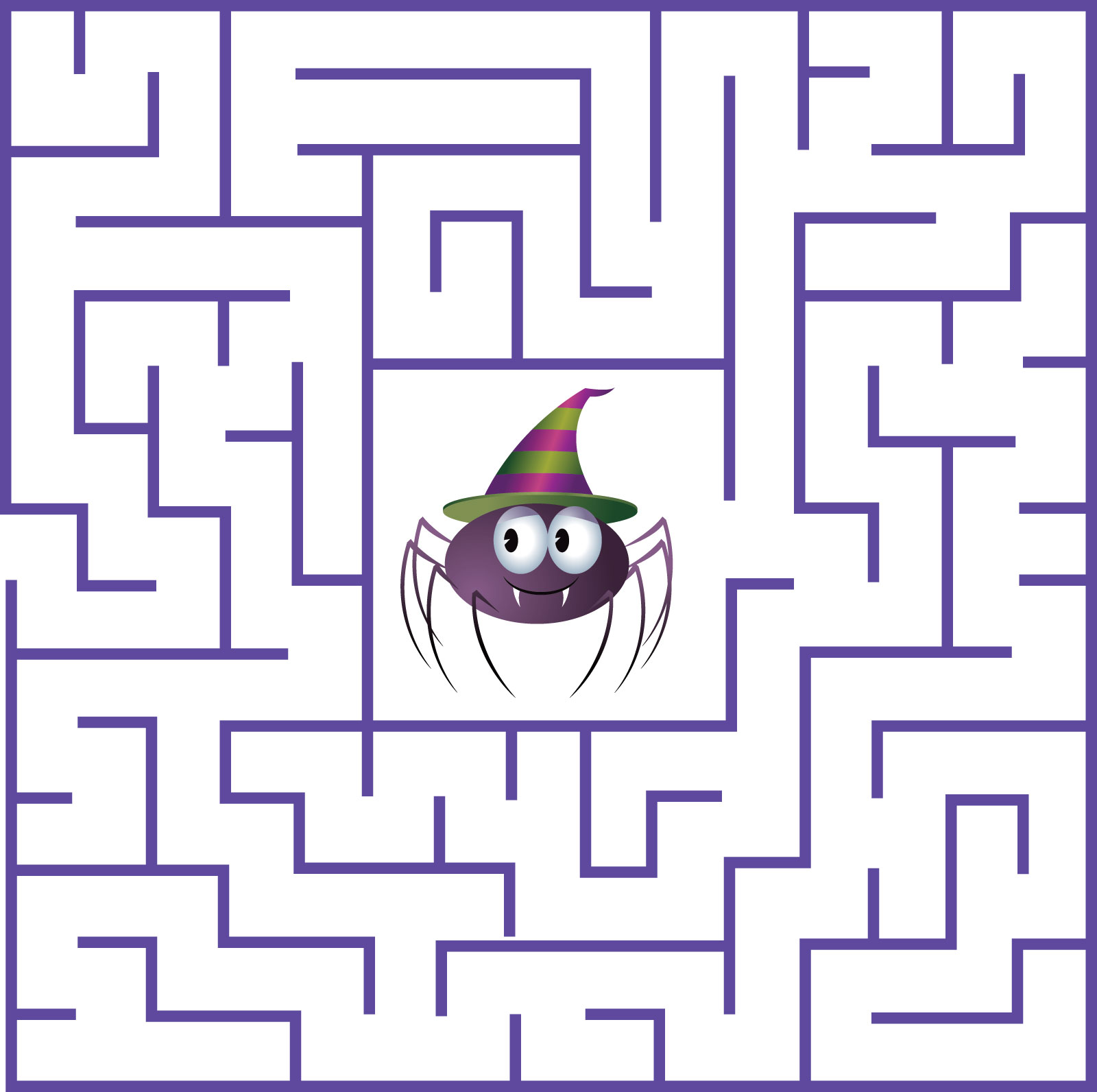 Playful image for halloween maze printable