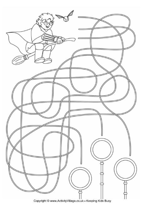 picture relating to Harry Potter Activities Printable called 28 Free of charge Printable Mazes for Little ones and Grown ups