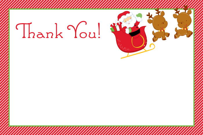 Free Printable Holiday Thank You Cards - Printable Cards