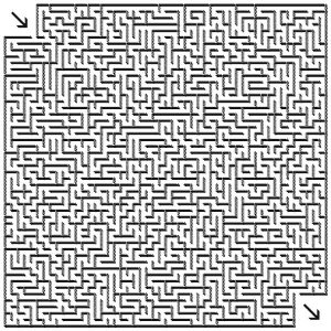 Printable Hard Challenging Mazes