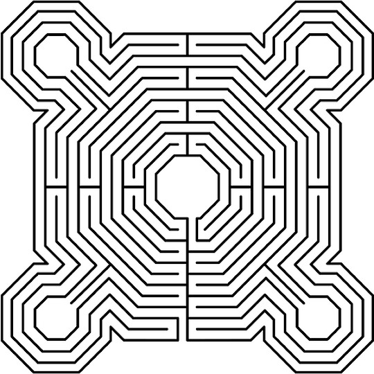 Punchy image regarding printable maze for adults