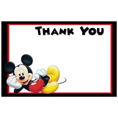 printable mickey mouse thank you cardsKitty Baby Love