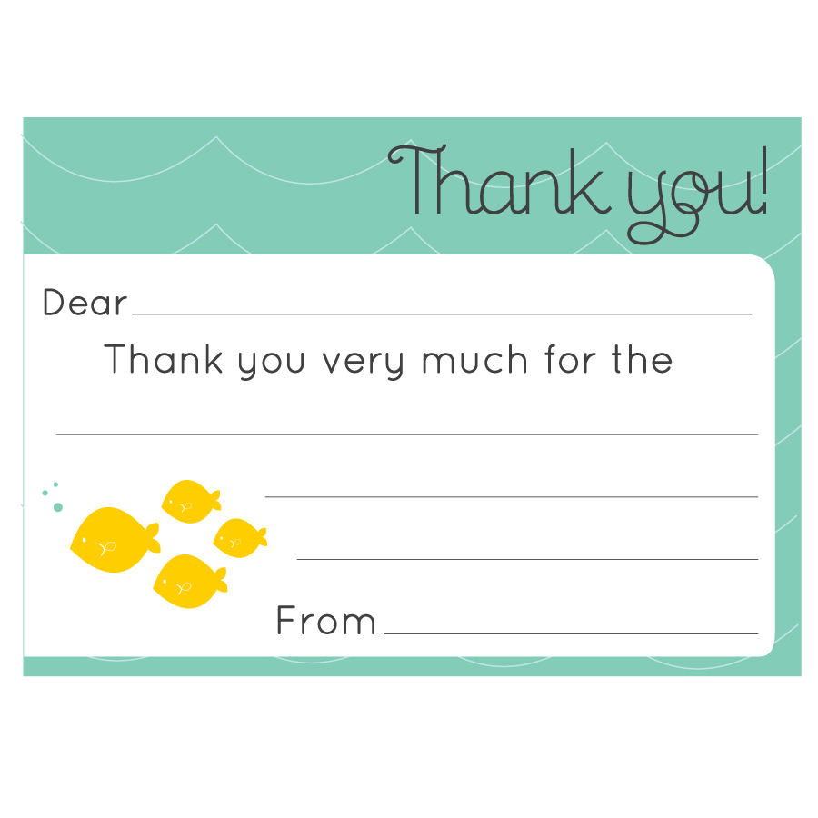 image about Fill in the Blank Thank You Cards Printable identified as 34 Printable Thank Yourself Playing cards for All Needs