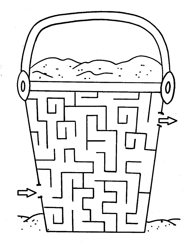 It's just a graphic of Geeky Preschool Maze Printable