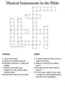 Bible Crossword