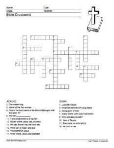 Bible Crossword Puzzles for Youth