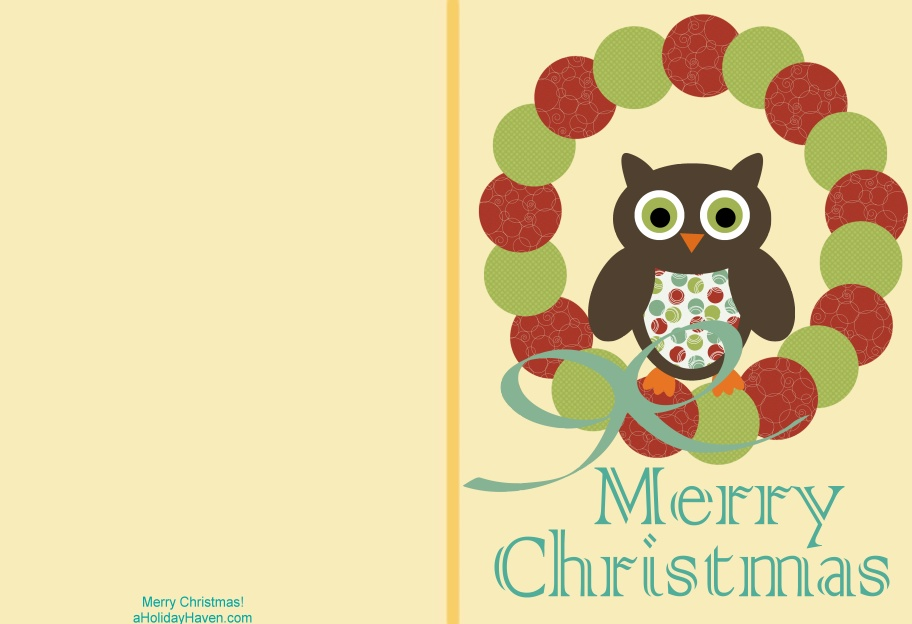 38 Unique Printable Christmas Cards | Kitty Baby Love