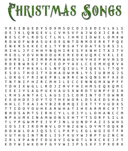 Christmas Song Word Search