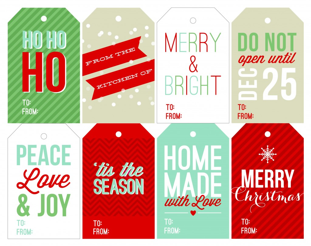 photograph about Printable Christmas Tag identified as 40 Distinctive Printable Xmas Reward Tags
