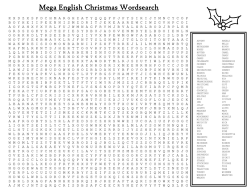 Christmas Word Search To Print