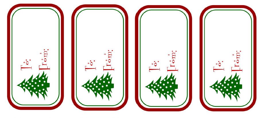40 Unique Printable Christmas Gift Tags : Kitty Baby Love