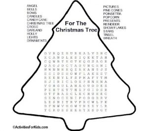 Free Printable Christmas Word Search Puzzles