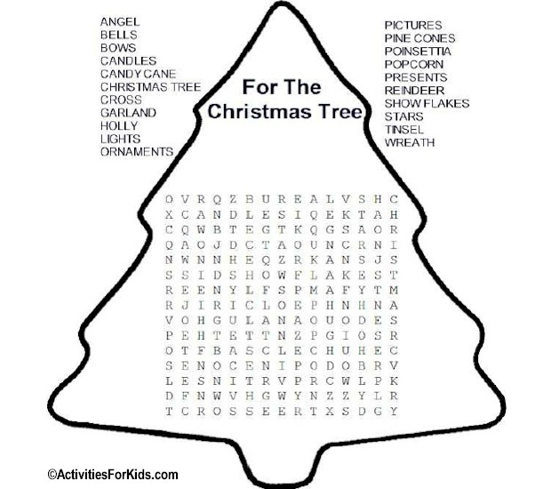 Légend image in christmas word search puzzles printable