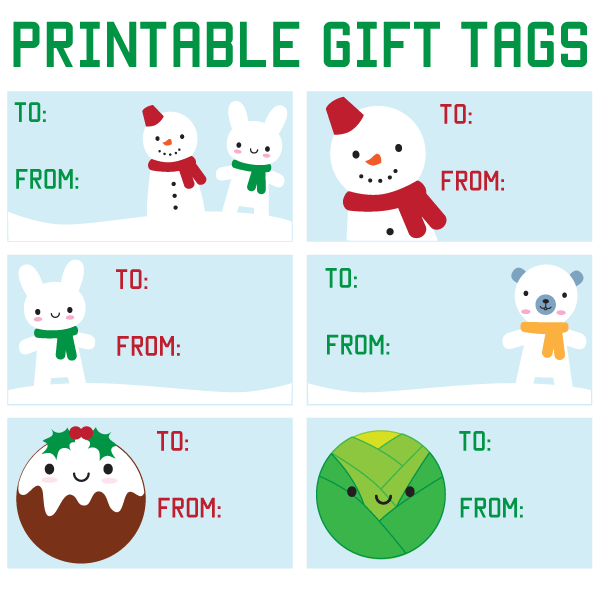 40 Unique Printable Christmas Gift Tags – Kitty Baby Love