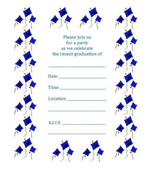 image regarding Printable Graduation Announcements named 10 Wonderful Printable Commencement Invites