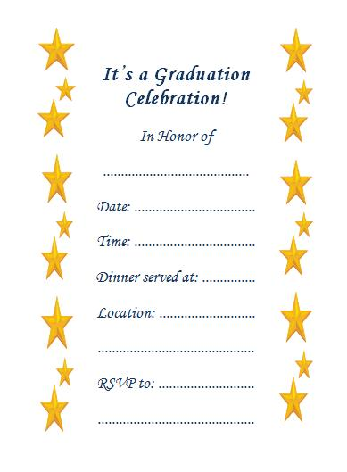 image about Free Printable Graduation Invitations called 10 Wonderful Printable Commencement Invites