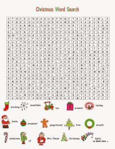 Free Printable Merry Christmas Word Searches Online